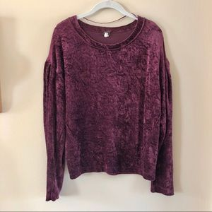 Free People • We The Free velvet pullover